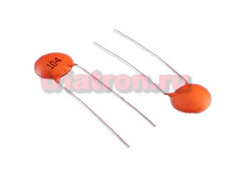 0,1мкф 50в Y5V +80-20% d=5mm кер.дисковый конденсатор (К10-7В)