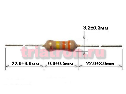 100ом CF-1/2W 5% углер.резистор