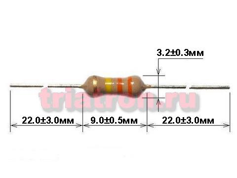 1,5ком CF-1/2W 5% углер.резистор