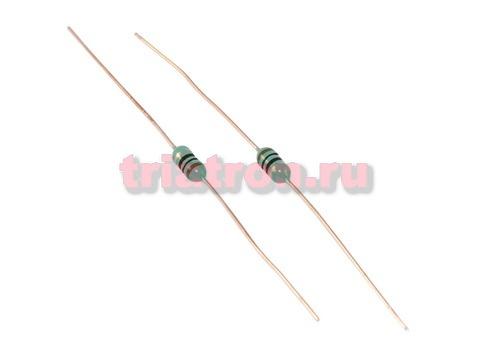LGA 0307 /EC-24 10uH 10% 160mA индуктивность лента аксиальные вывода LGA0307-100KP52E