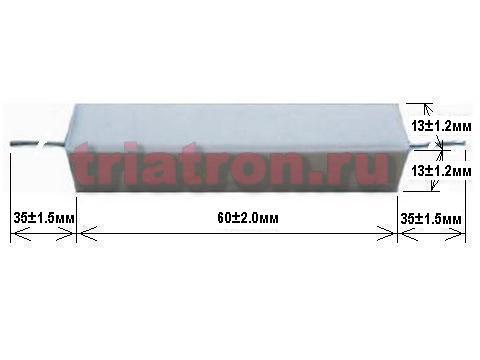 15ом 5% CRL-20W проволочный резистор, цементный AXIAL вывод