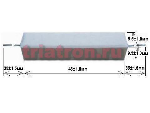 1,2ком 5% CRL-10W проволочный резистор, цементный AXIAL вывод