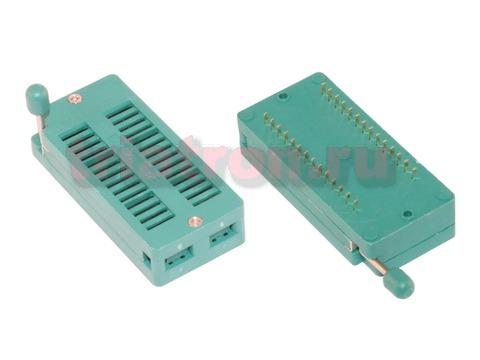 DS1043-28 шаг 2.54мм ZIF разъем панель универсальная 28 вывода CONNFLY