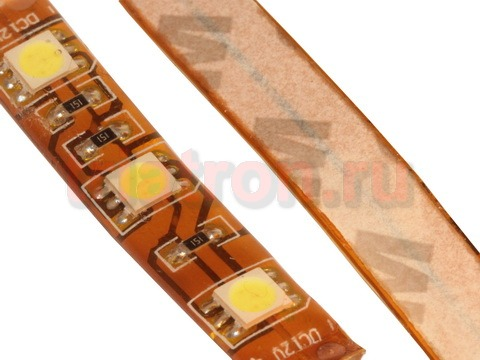 5050 UWC-60-12V,65W,120°, белый, влагозащ., светодиодная лента, 5 метров