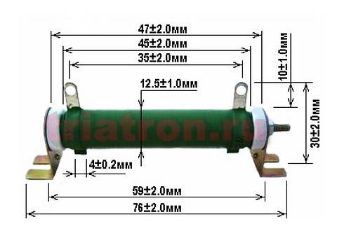 100ом 5% DDR-10W С5-35В проволочный резистор