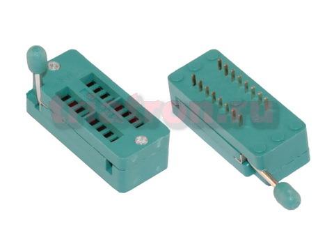 KLS1-108-16-D=7,62 шаг 2.54мм ZIF разъем панель универсальная 16 вывода KLS