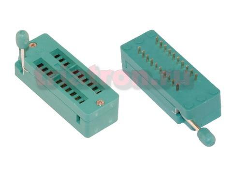KLS1-108-20-D=7,62 шаг 2.54мм ZIF разъем панель универсальная 20 вывода KLS