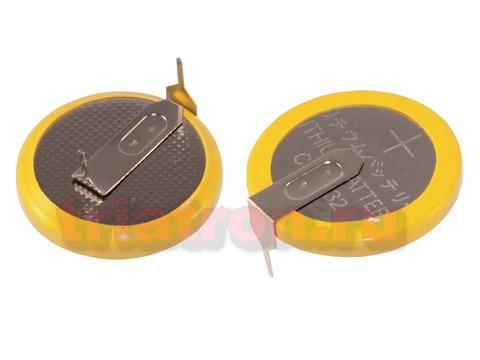 CR2032/1HF3, (3V) 15.2мм, 2 вывода, гориз. эл. питания дисковый