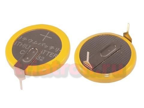 CR2032/1HF5, (3V) 17.8мм, 2 вывода, гориз. эл. питания дисковый (CR2032/1HSE)