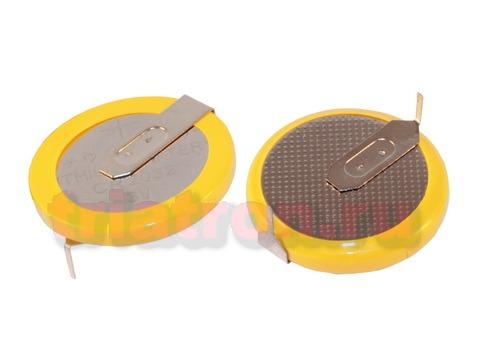 CR2032/1HF, (3V) 20.0мм, 2 вывода, гориз. эл. питания дисковый
