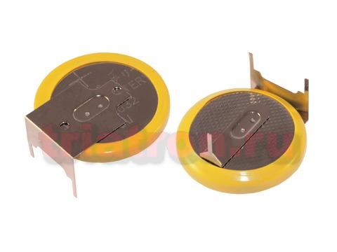 CR2032/1GU1, (3V) 20.0мм, 3 вывода, гориз. эл. питания дисковый