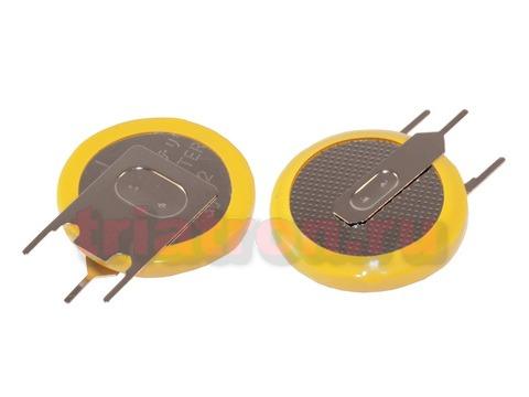 CR2032/1GV, (3V) 3.2мм, 3 вывода, вертик. эл. питания дисковый