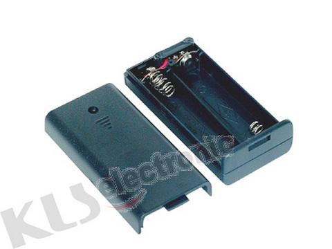 KLS5-805-B, держатель для 2 батарей АА провод 15см. (крышка)