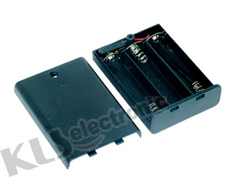 KLS5-808-B, держатель для 3 батарей АА провод 15см. (крышка)