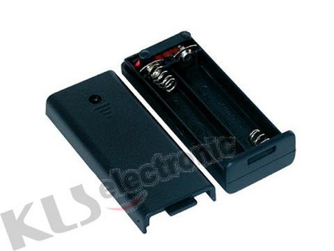KLS5-828-B, держатель для 2 батареи ААА провод 15см. (крышка)