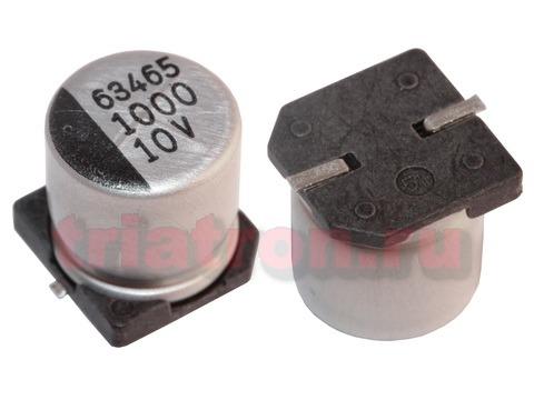 1000мкф 10в SC 85° (10X10) ЧИП конденсатор SAMWHA SС1A108M10010VR