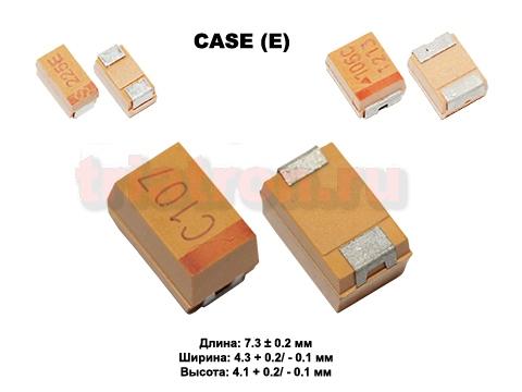 100мкф 16в SMD разм.E 10% тантал. конденсатор Hottech TCSE107K016R