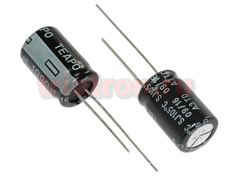 1000мкф 16в 105° SJ (10X16) низкоим. конденсатор Teapo KSJ108M016S145H16K