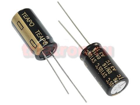 1000мкф 25в 105° SY (10X20) низкоим. конденсатор Teapo KSY108M025S146H20K