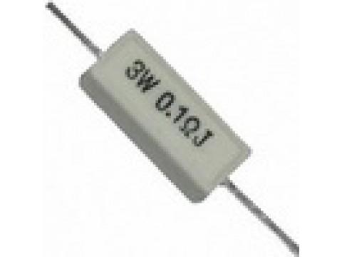 Резисторы вывод. проволочные, цементные  (5-100W)